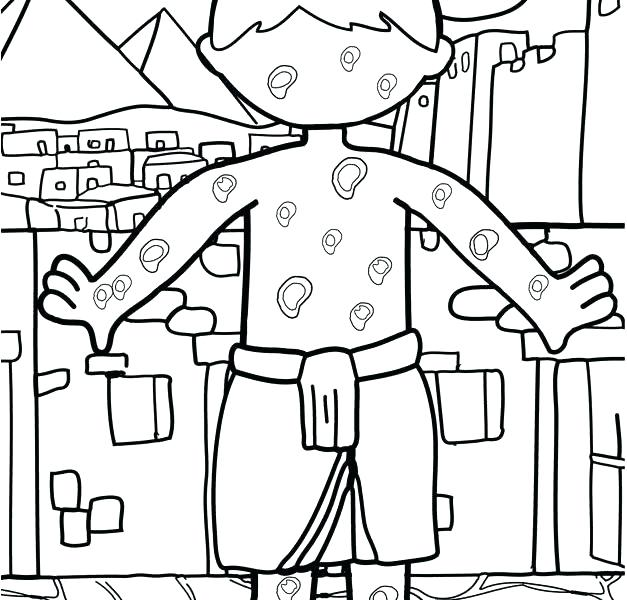 627x600 Plagues Of Egypt Coloring Pages Plagues Of Coloring Pages Ten