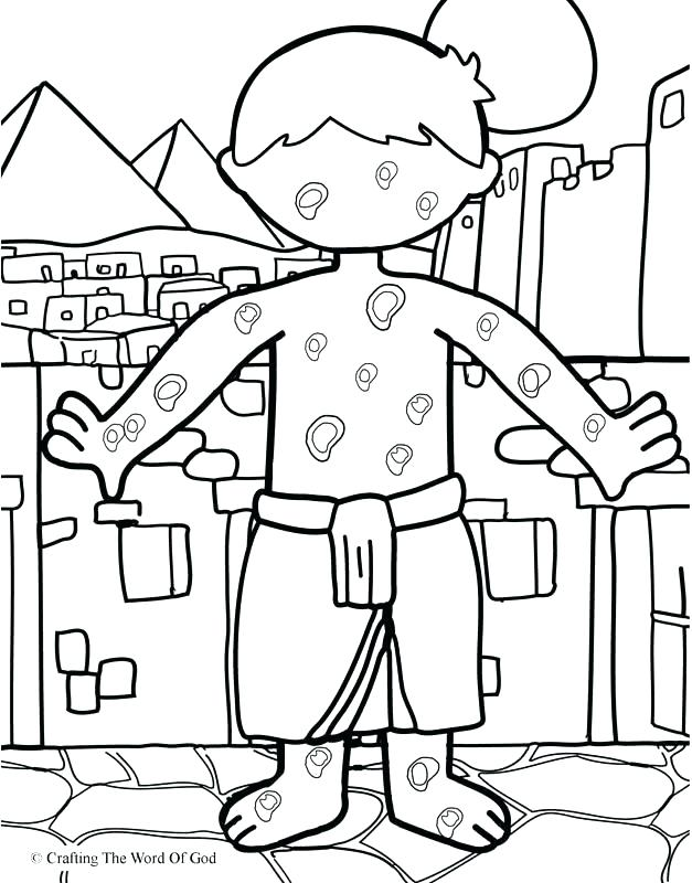 627x800 Plagues Of Egypt Coloring Pages Ten Plagues Of Coloring Pages