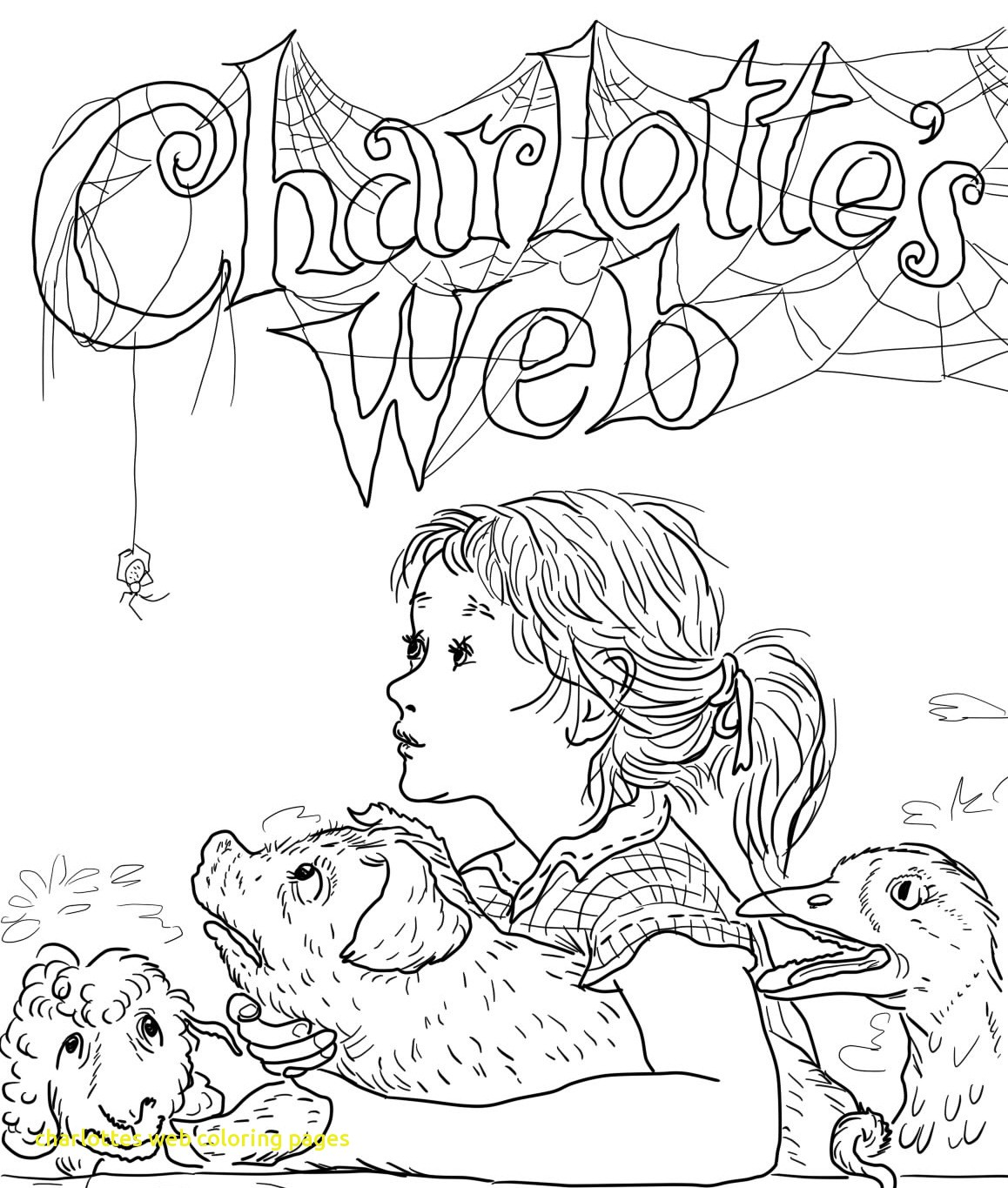 1158x1365 Charlottes Web Coloring Pages With Ideas Charlotte Stunning
