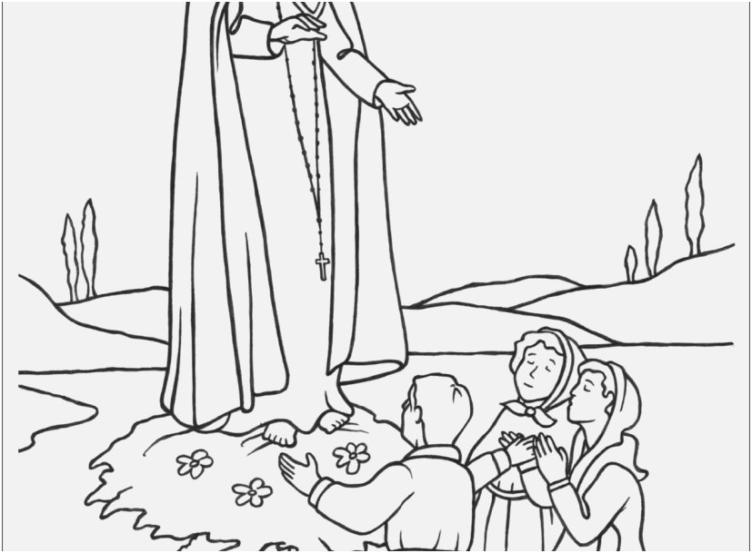 827x609 Day Of School Coloring Pages Footage Our Lady Of Fatima