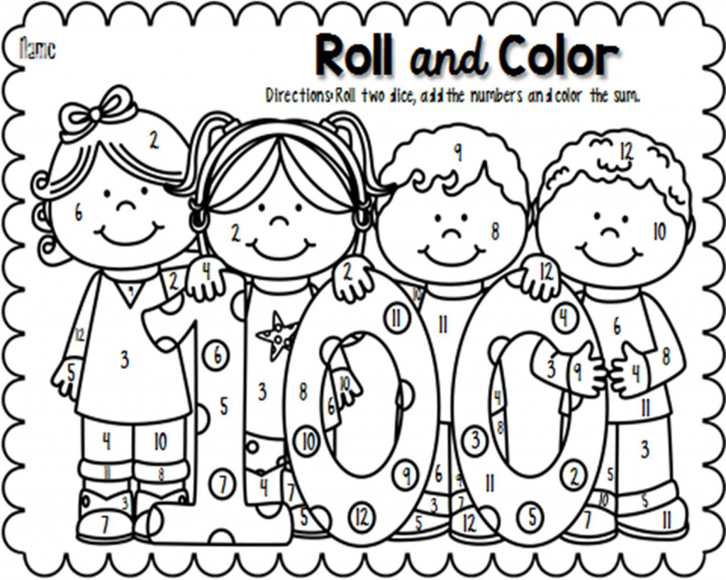 100 Day Coloring Pages at GetDrawings.com | Free for personal use ...