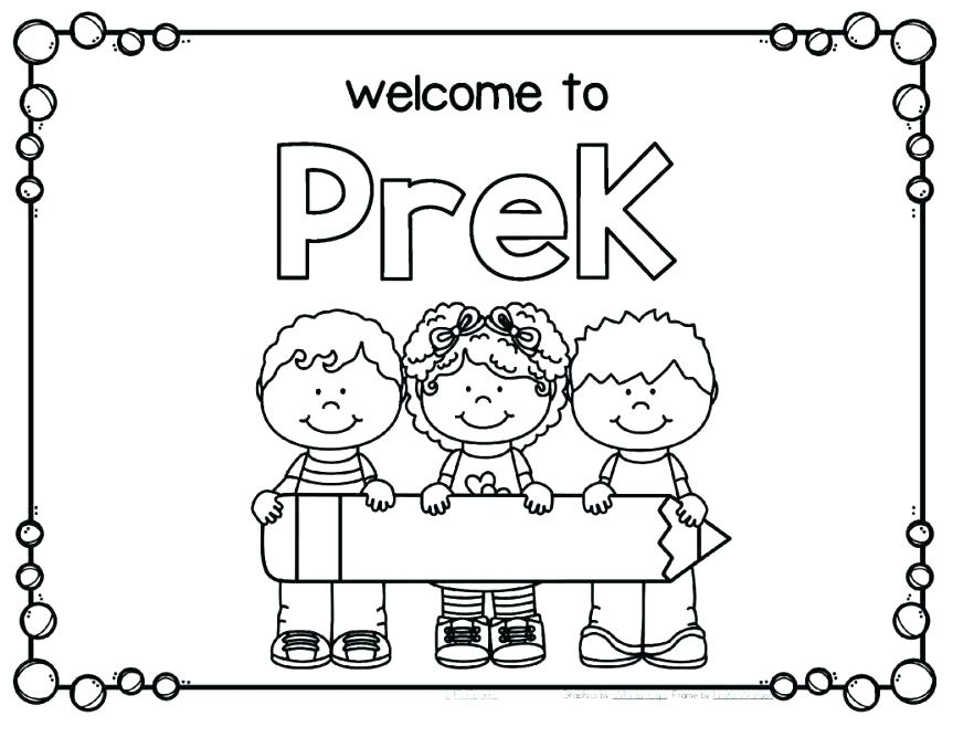 863x667 First Day Of Preschool Coloring Pages