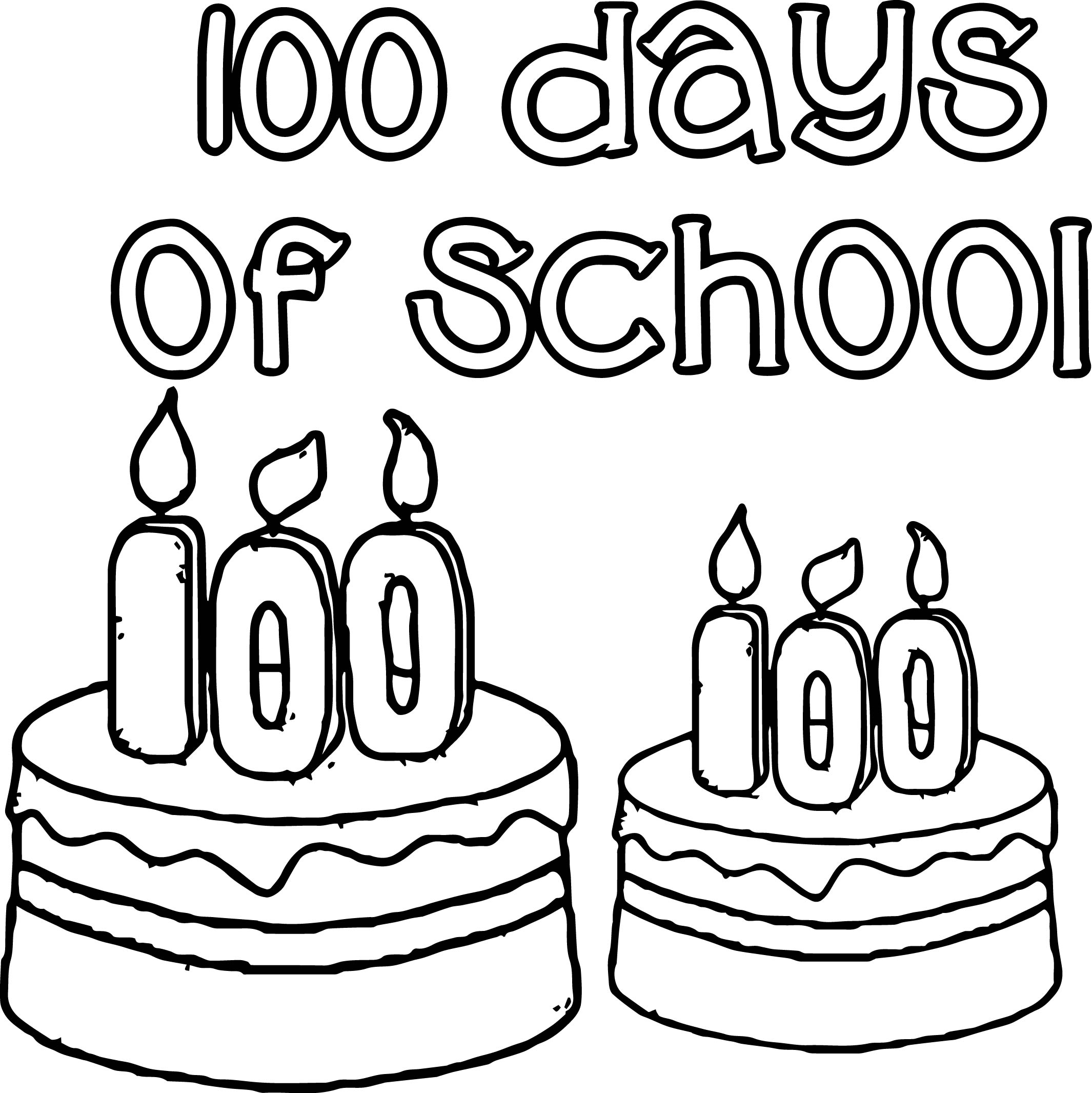 100 Days Of School Coloring Pages