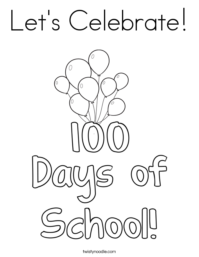 photo about 100 Days Printable titled 100 Times Of College Coloring Internet pages at  No cost
