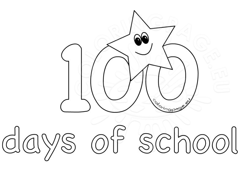 100 Days Of School Coloring Pages at GetDrawings.com   Free for ...