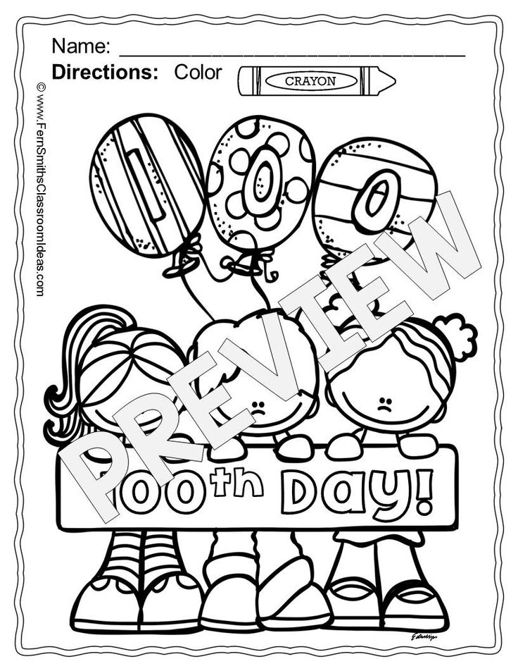 100 Days Of School Coloring Pages At Getdrawings Com Free For