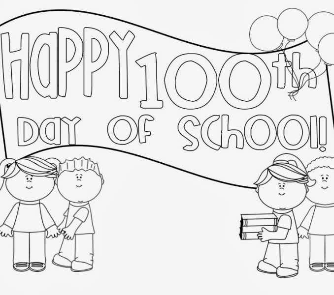 100th Day of School Coloring and Award Certificates | School ... | 600x678