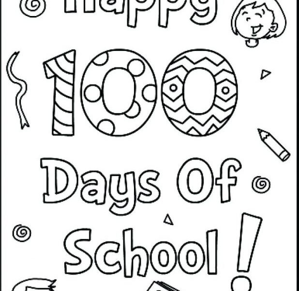 100th Day Of School Coloring Pages Free at GetDrawings.com | Free ...