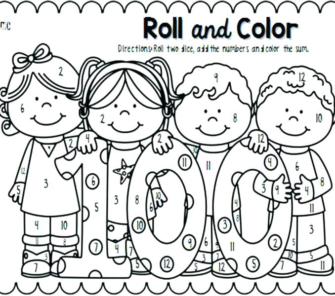 100th Day Of School Coloring Pages Free At Getdrawings Com