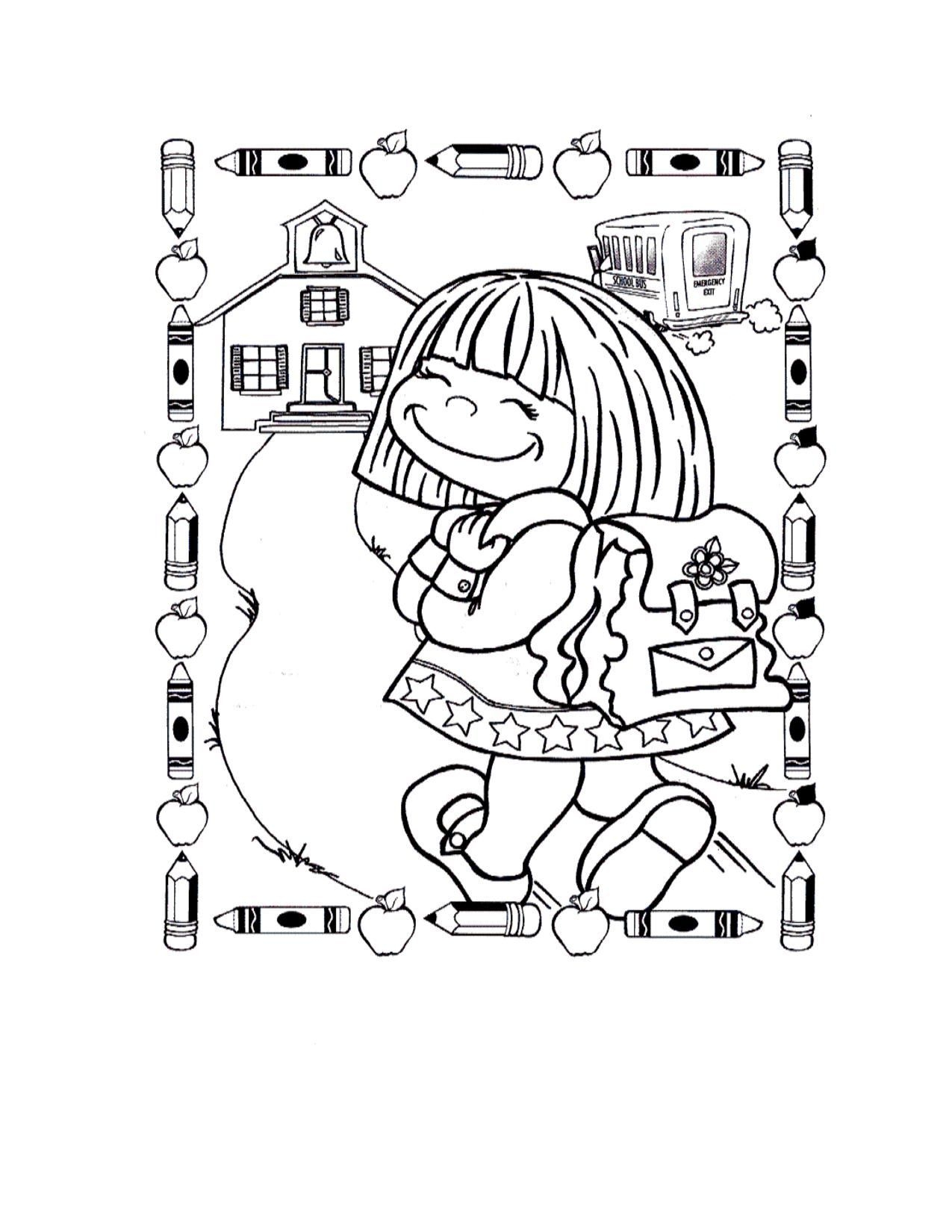 1275x1650 Generous Printable First Day Kindergarten Coloring Pages Printable