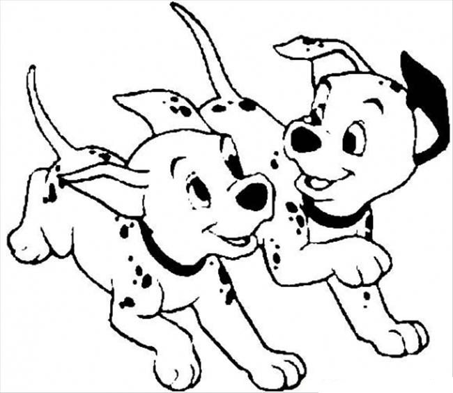 650x564 Dalmation Coloring Pages For Kids Dalmatian In A Sock
