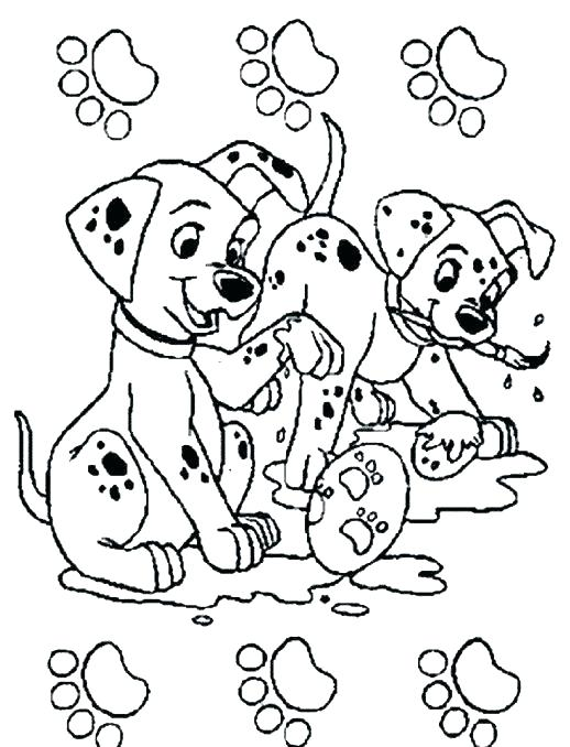 518x678 Dalmations Coloring Pages Piano And The Puppies Dalmatians