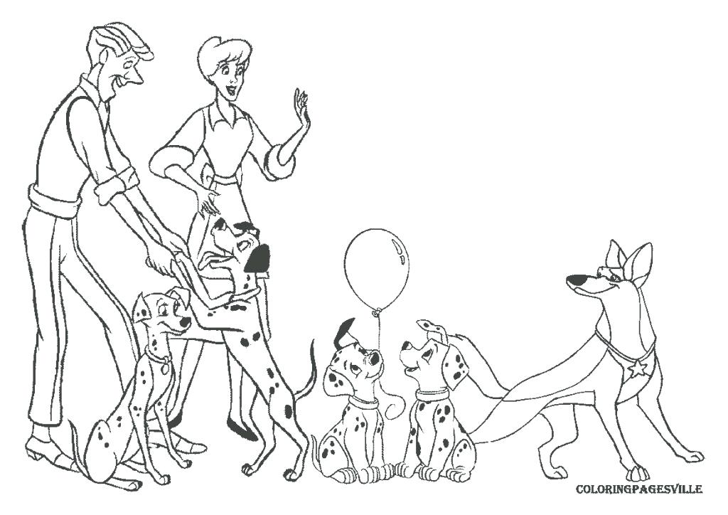 1024x724 Dalmation Coloring Pages Piano And The Puppies Dalmatians