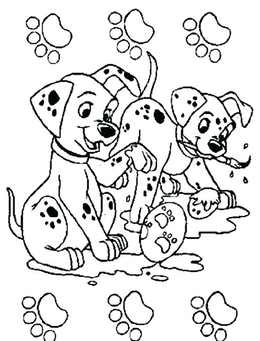 518x678 Dalmations Coloring Pages And Dalmatians Puppy Sitting