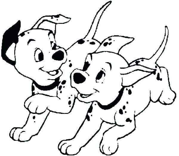 600x522 Dalmations Coloring Pages Dalmatians On A Police Car