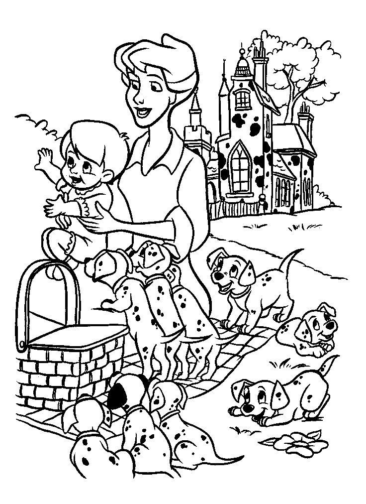 736x1012 Best Dalmatians Images On Coloring Books
