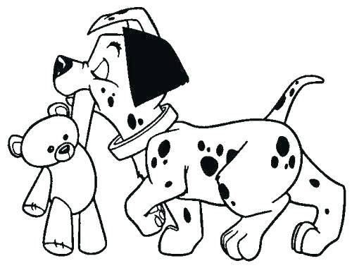 500x380 Dalmation Coloring Page And Dalmatians Puppy Sitting On Rounded