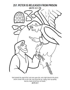 236x305 Peter Is Miraculously Released From Prison Coloring Page This