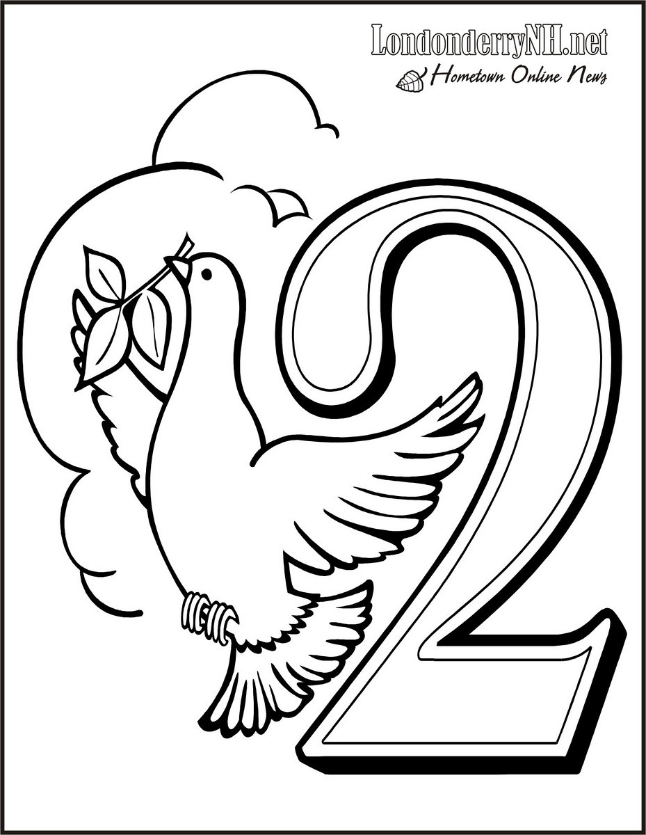 929x1200 Days Of Christmas Coloring Pages The Twelve History And Book
