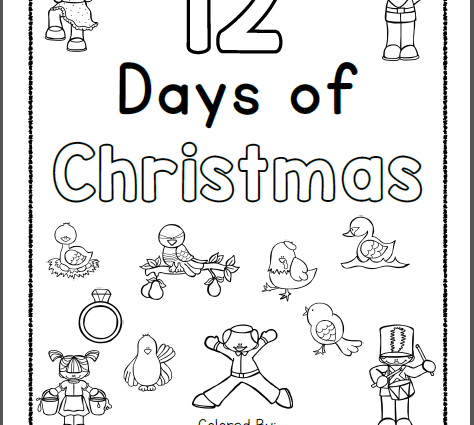 474x425 Days Of Christmas Coloring Pages Free Days Of Christmas