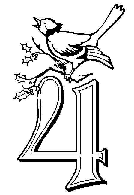 447x649 Calling Birds Picture Christmas Coloring Pages