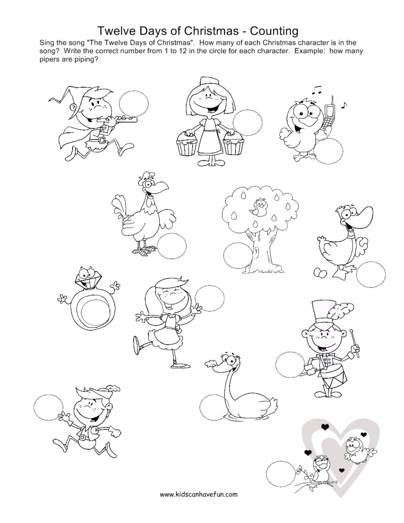 791x1024 Days Of Christmas Coloring Pages