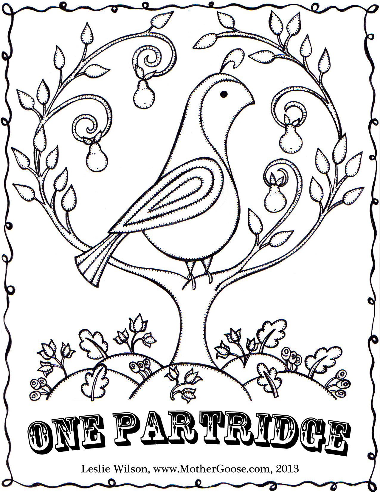 1275x1650 Free Twelve Days Of Christmas Coloring Pages For Fleasondogs