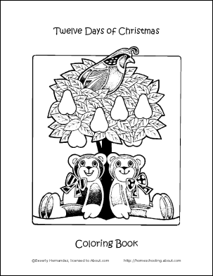 303x392 Make Your Own Days Of Christmas Coloring Book Christmas Cover