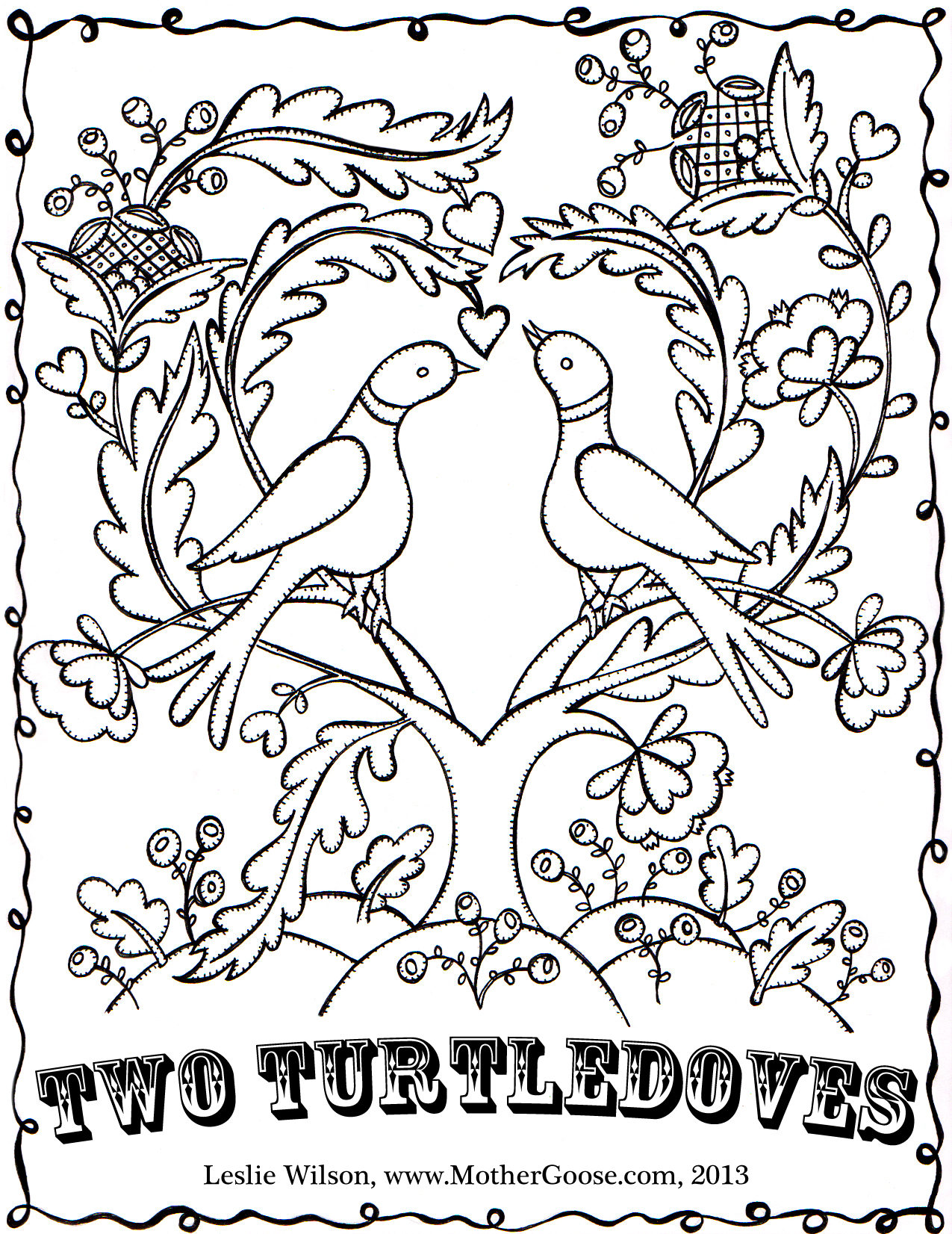 1275x1652 Twelve Days Of Christmas Coloring Pages