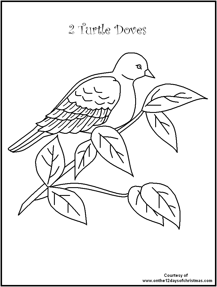 748x989 The Days Of Christmas Colouring Pages Days