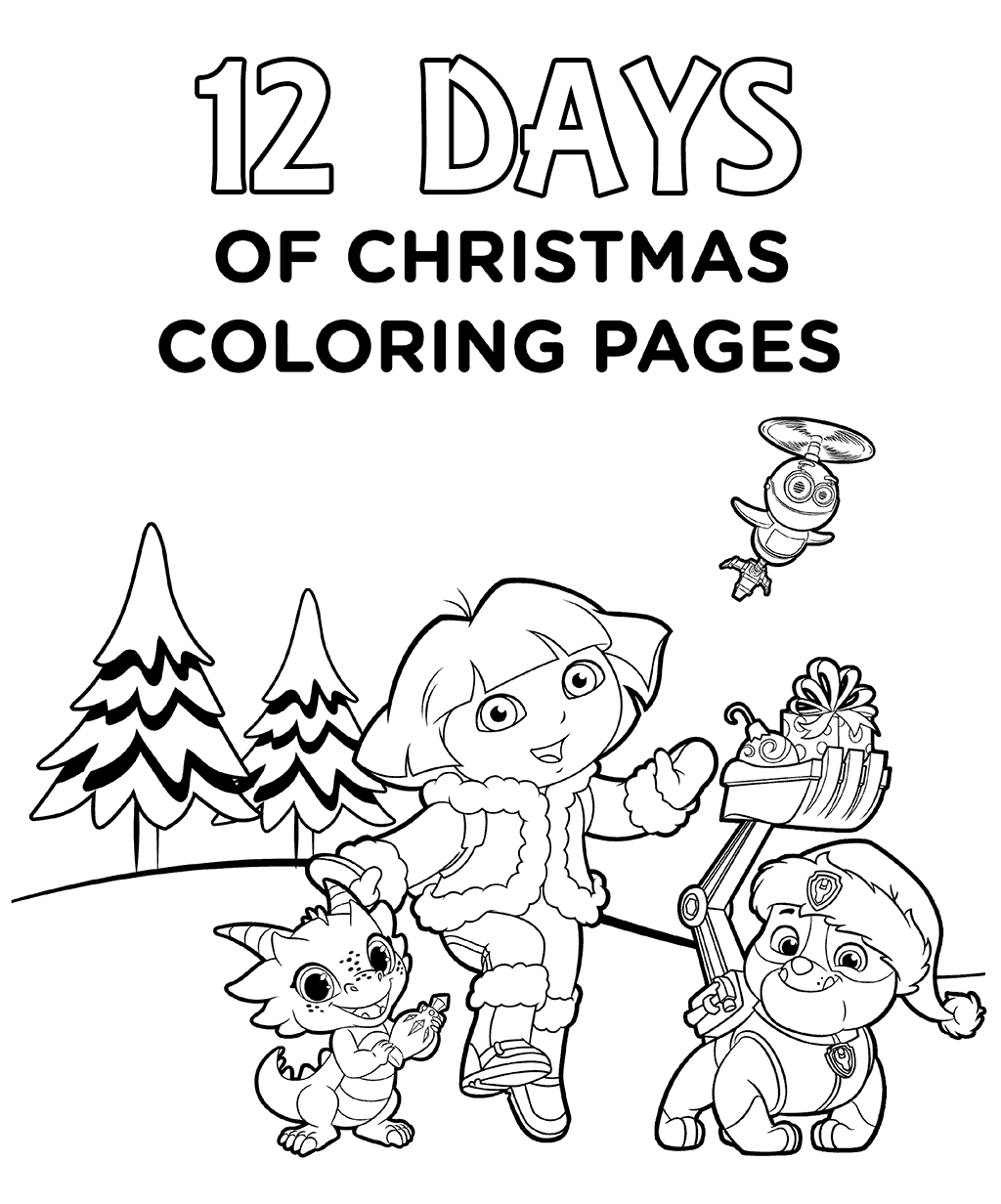 12 Days Of Christmas Coloring Pages Printable At Getdrawings Com