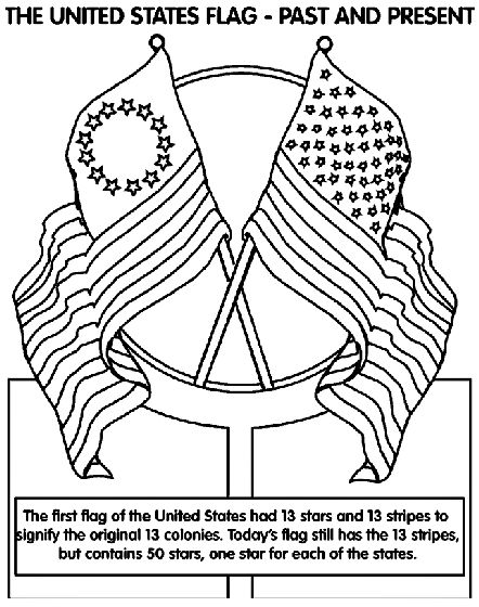 13 Colonies Coloring Page