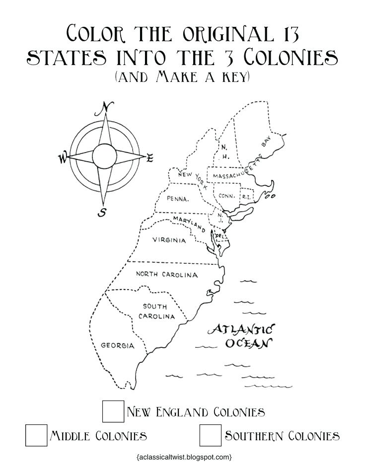 735x952 Colonies Coloring Pages Homeschooling With A Classical Twist