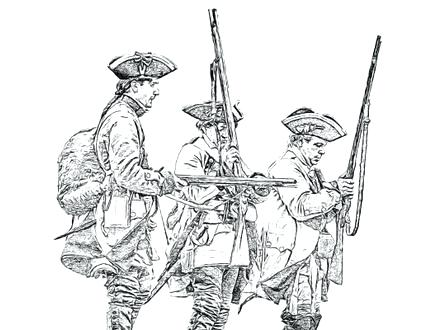 440x330 Colonies Coloring Pages Sketch Drawing Of Civil War Coloring