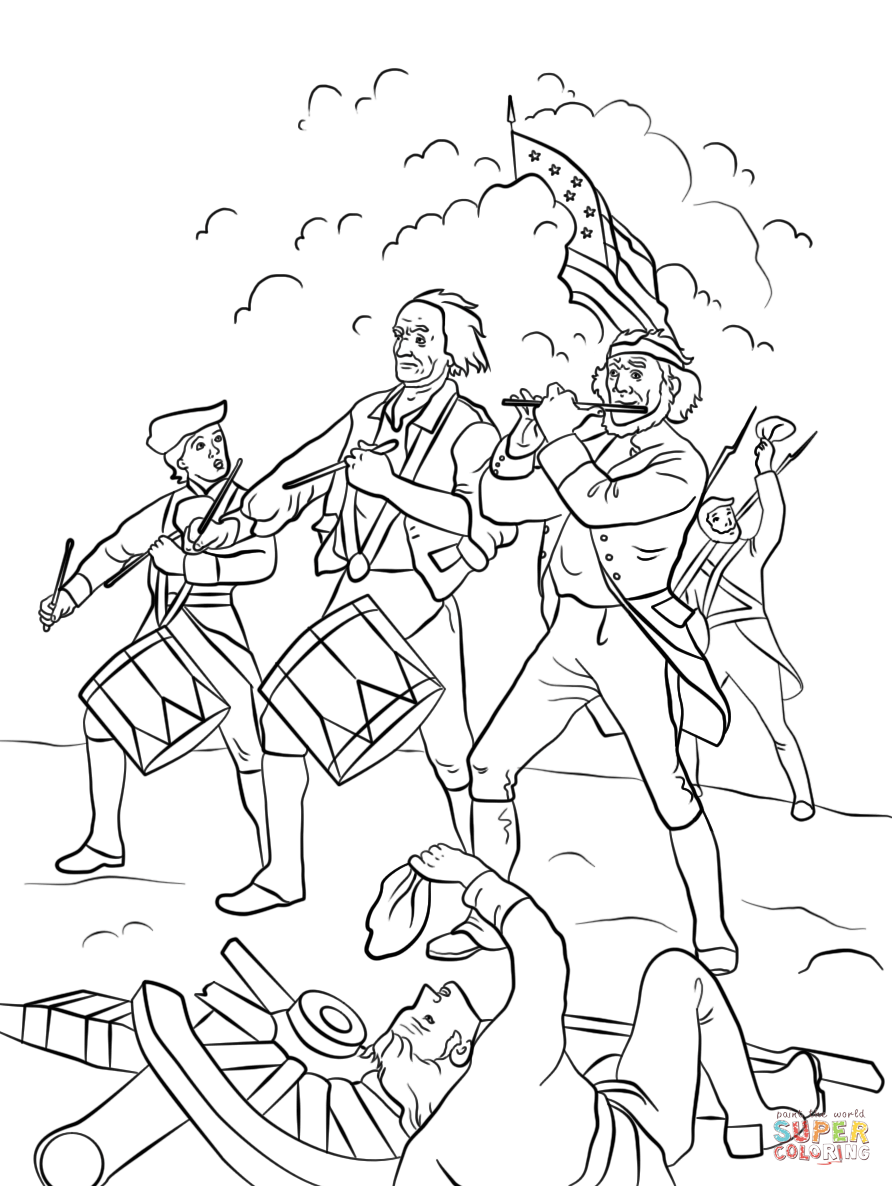 892x1186 American Revolutionary War History Colonies Map Coloring Pages