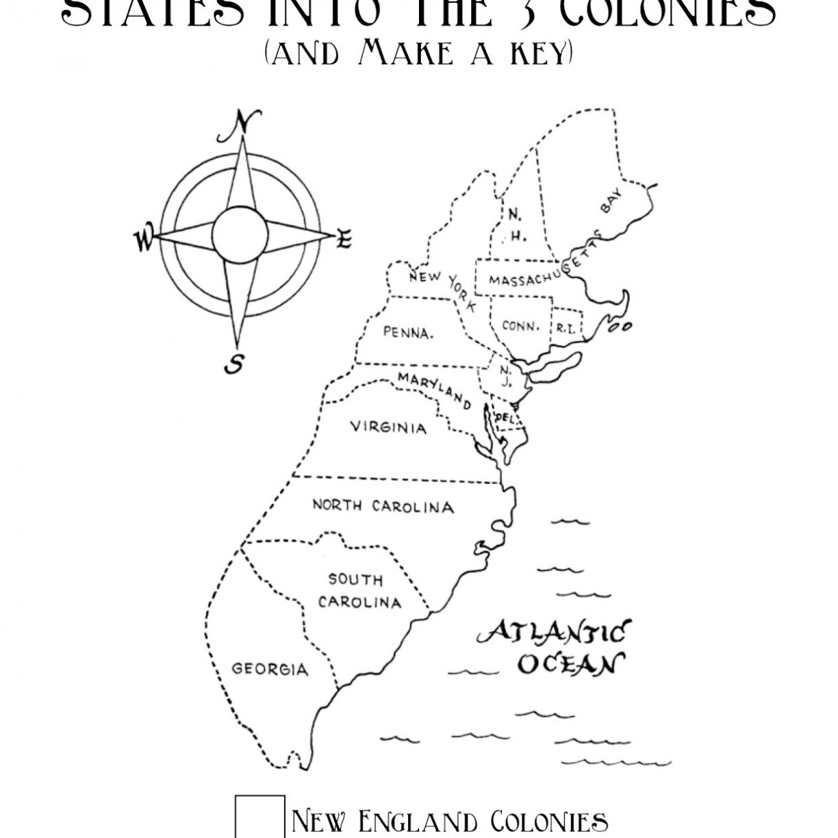 1224x1224 Colonies Map Coloring Page Free Printable Colonial America Pages