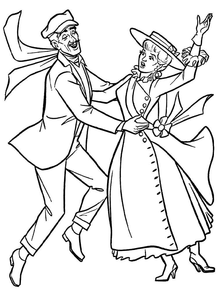 750x1000 Mary Poppins Coloring Pages Free Printable Mary Poppins Coloring