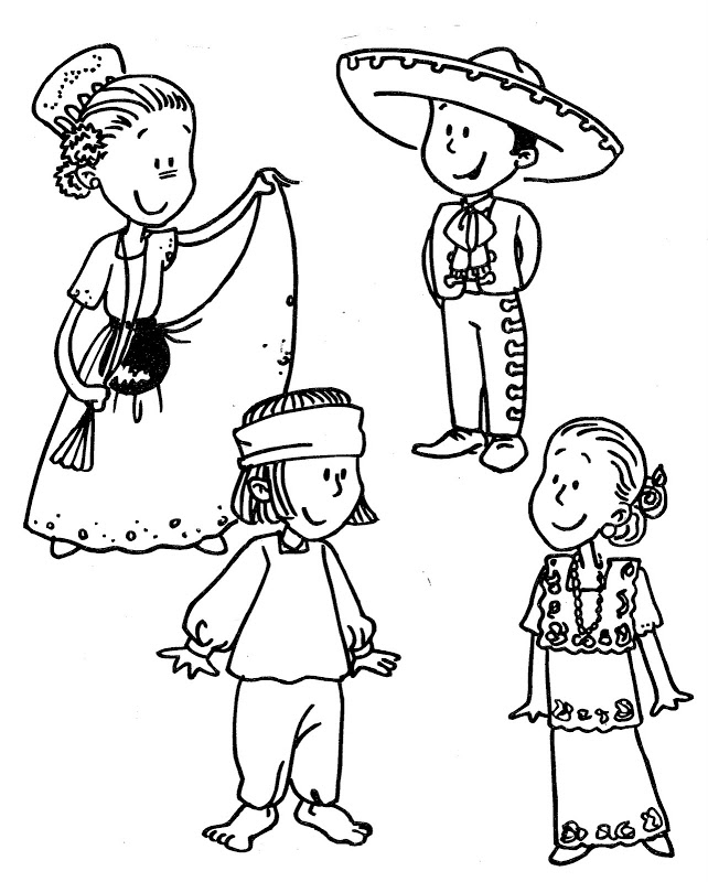 642x800 Mexican Independence Day Coloring Pages Mexican Traditional Dress
