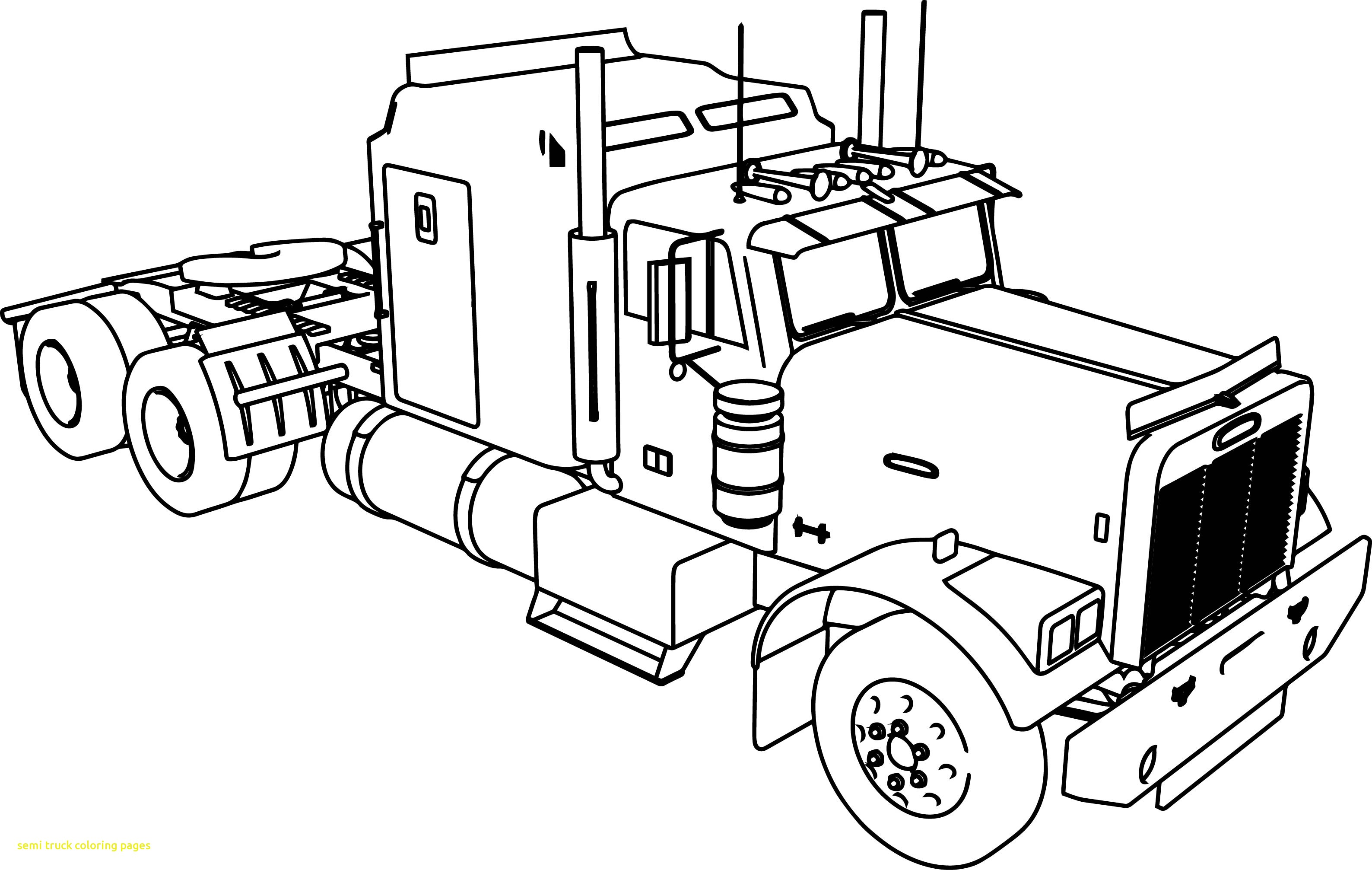 18 Wheeler Coloring Pages At Getdrawings Free Download