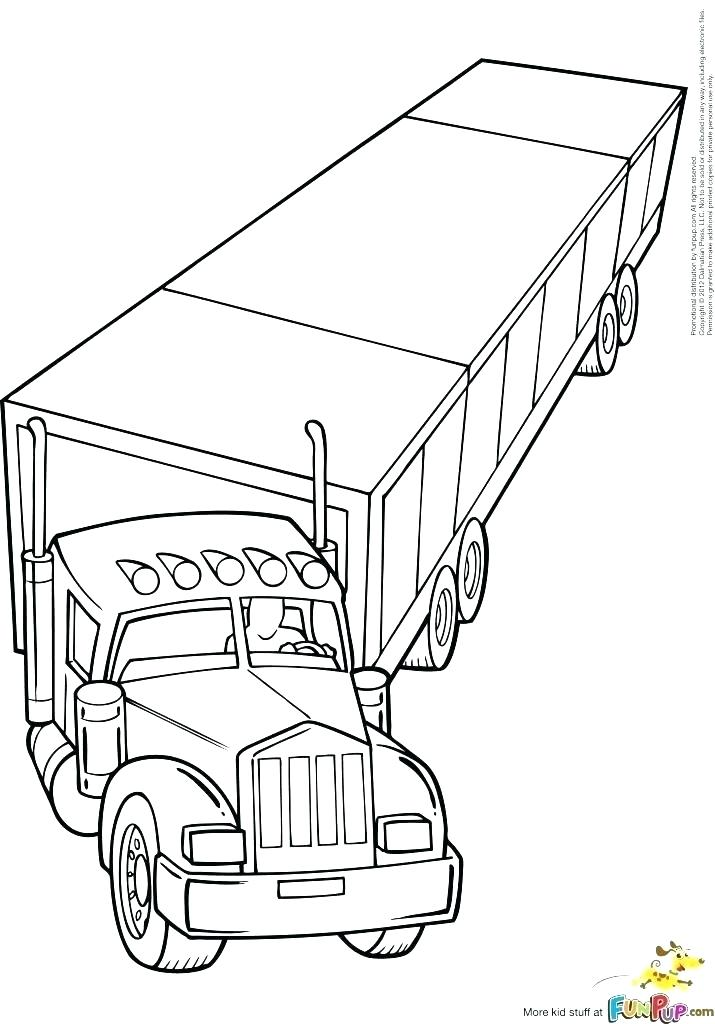18 Wheeler Truck Coloring Pages At Getdrawings Free Download