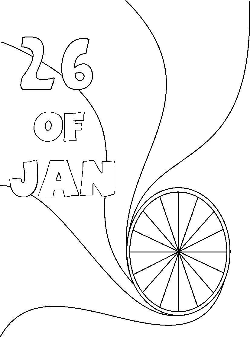 827x1116 Republic Day Coloring Page