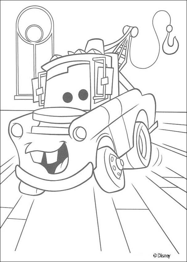 607x850 Mater Coloring Pages Free Cars Coloring Pages Free Disney