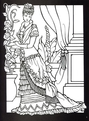378x512 Best Historical Fashion Coloring Pages Images