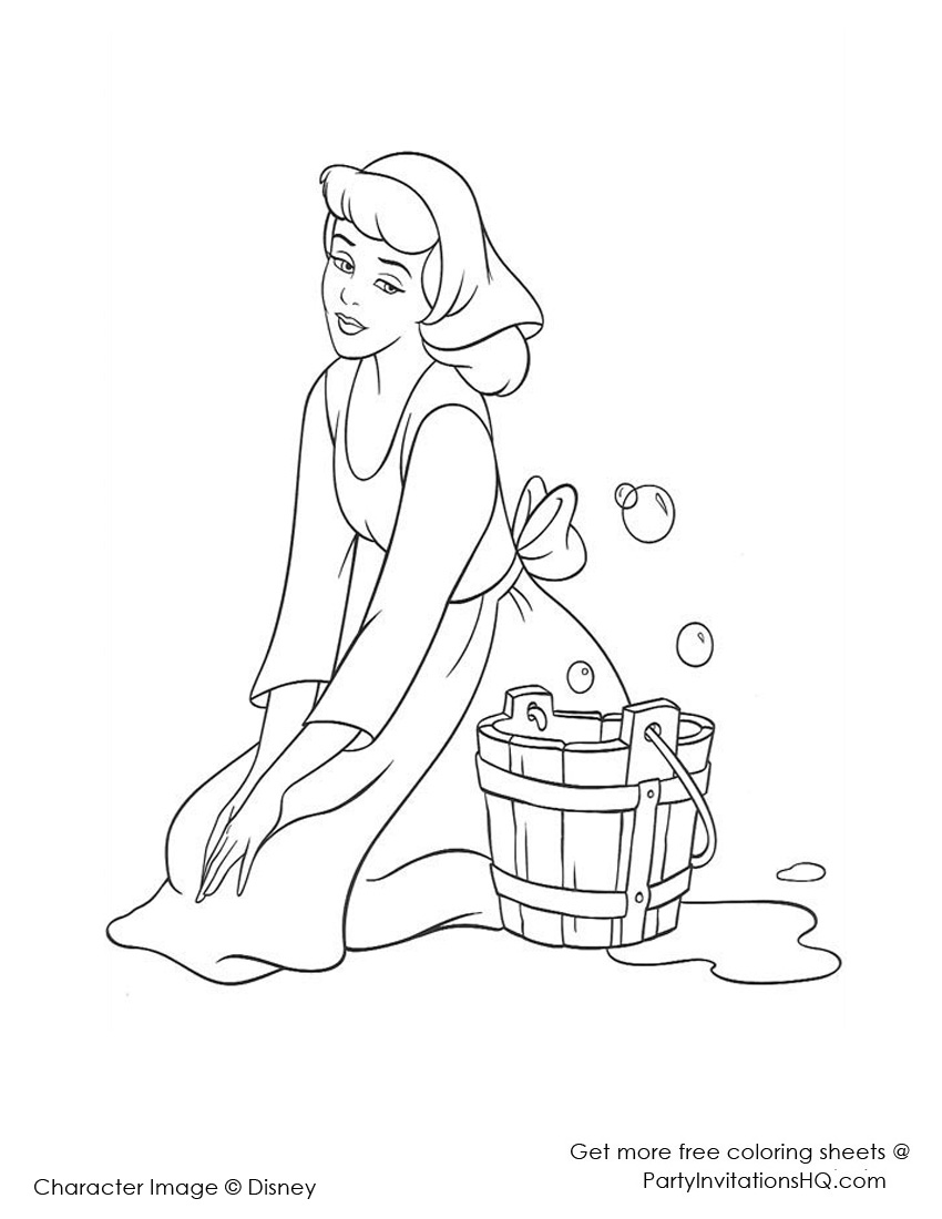 850x1100 Cinderella Mice Coloring Pages
