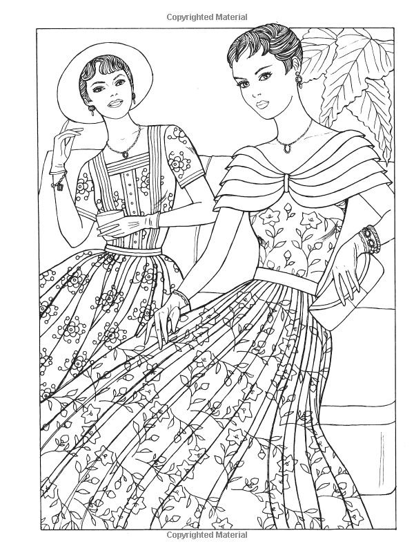 600x800 Creative Haven Fabulous Fashions Of The Coloring Book