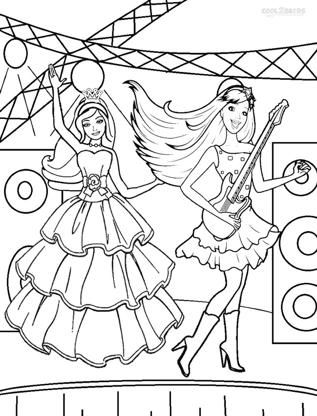 649x850 Printable Barbie Princess Coloring Pages For Kids