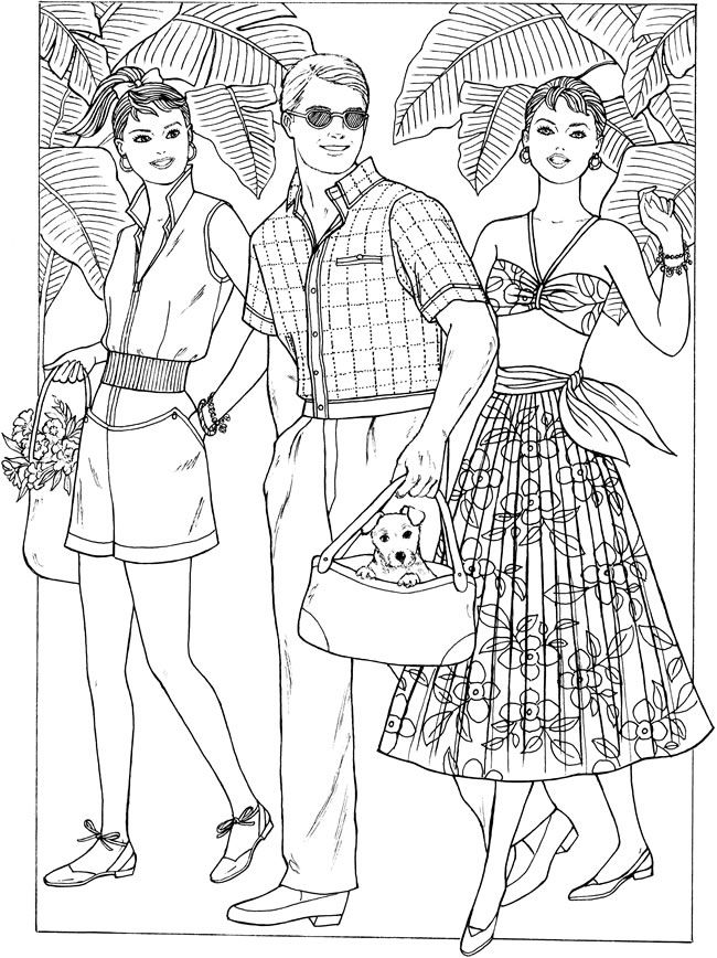 650x868 Fashion Coloring Pages