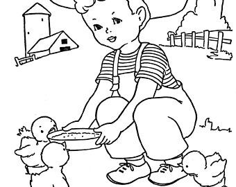 340x270 Vintage Coloring Pages Etsy