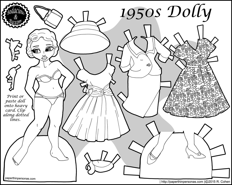 1500x1200 Retro Fashion Paper Doll