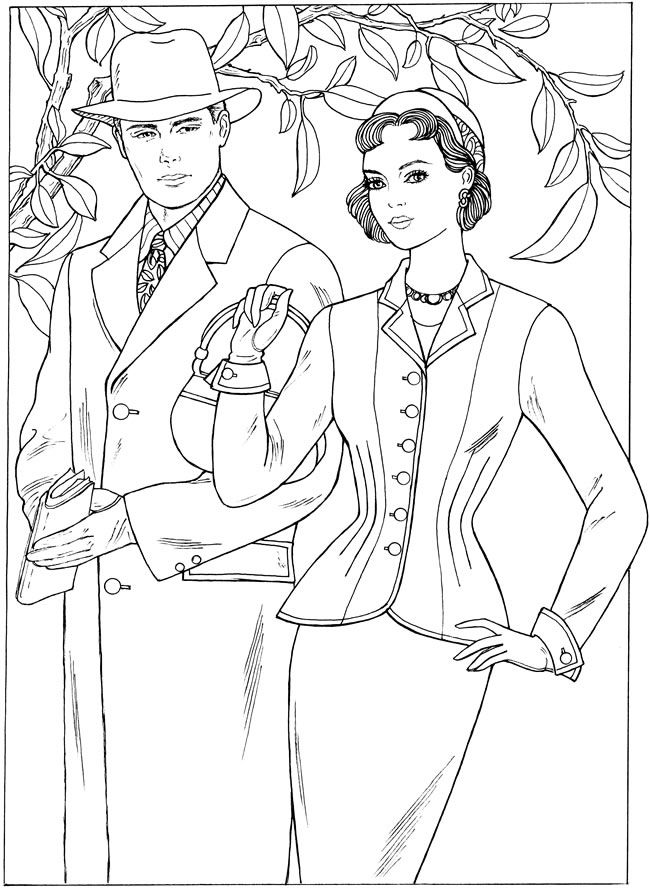 650x889 Best Coloriages Images On Coloring Books, Vintage